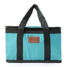 Waterproof Thermal Cooler Insulated Lunch Box Storage Picnic Large Bag Foldable Blue