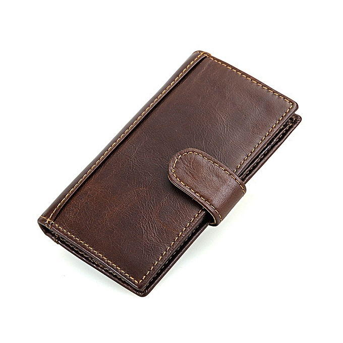 9570323d926de Men Genuine Leather RFID Blocking Secure Long Secretary Wallet Vintage Card  Holder ...
