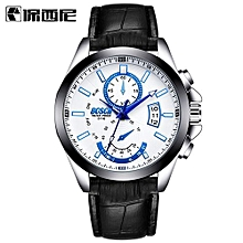 High-grade BOSCK Casual Business Watch Men Stainless Leather Water Resistant Quartz Clock Auto Day Date Watches