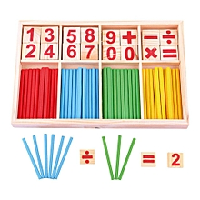 Wooden Counting Sticks Baby Education Toys Montessori Mathematical Baby Gift
