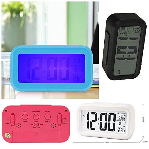 Colorful Bedroom Alarm Clock Light Wake Up Alarm Clock Digital LED Time  Display FM Radio Beside Lamp