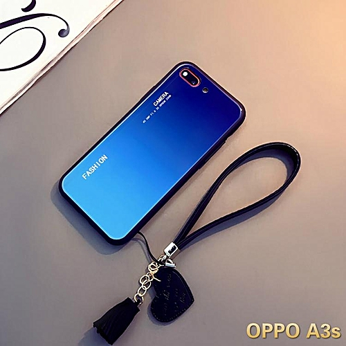 check out efa02 19d6e Aurora Glass Case for Oppo A3s Glass Case Full Cover Tempered Glass Back  Cover Casing For OPPO A3s Case Housing