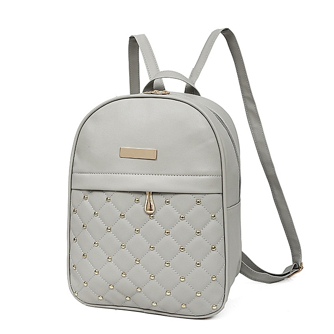 Women Rivet Backpack Fashion Causal Bags Bead Female Shoulder Bag Backpacks  GY c36de2f49816b