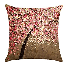 3D Throw Pillow Case Cushion Cover Colorful Flowerstrees Plant Car Cushion Pillowcases Creative Home Decor