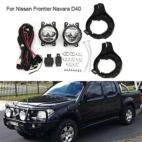 05-14 For Nissan Frontier Navara D40 Yellow Lens Fog Light Kit Lamp ABS  Bumper