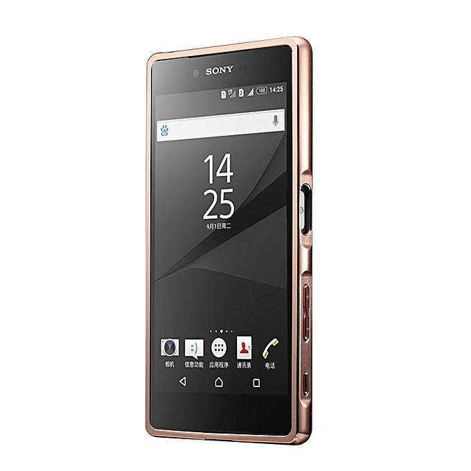 Fashionable Electroplating Push Pull Back Shell Cover + Metal Bumper Frame for Sony .