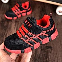 Unisex Children Shoes Boys Sneakers Sport Shoes For Girls Breathable Mesh Suede Hook & Loop Kids Footwear Casual Sneakers Newest