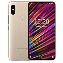 F1, 4GB+128GB, EU Version, Dual Back Cameras, 5150mAh Battery, Face ID & Fingerprint Identification, 6.3 inch Full Screen Android 9.0 MTK Helio P60 Octa Core up to 2.0GHz, Network: 4G, OTG, NFC, Dual SIM(Gold)
