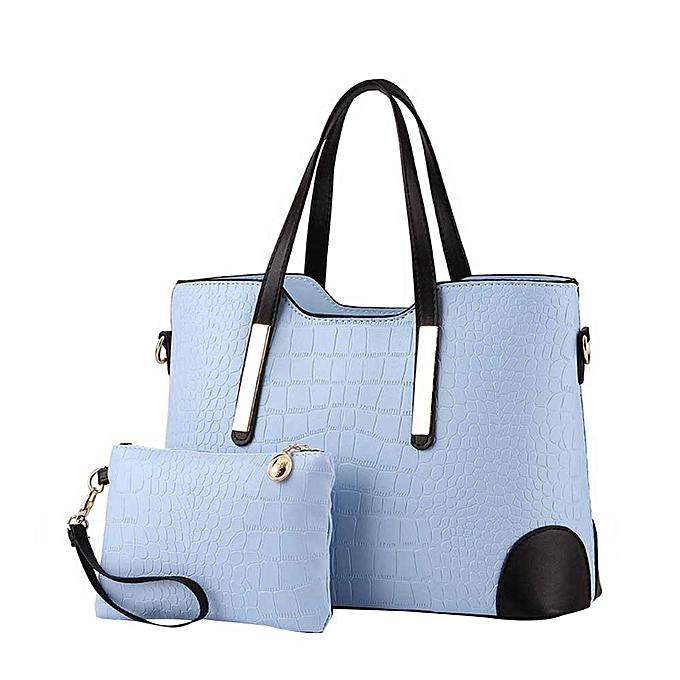 singedan Women Top Handle Satchel Handbags Tote Purse Leather Tote Bag  -light blue 2075866fb363e