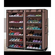 36 Pairs Portable Shoe Rack - Brown