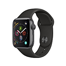 Watch Series 4 (GPS), 40mm Space Gray Aluminum Case With Black Sport Band - Space Gray Aluminum