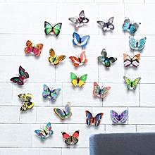 da994b936 LED Glowing 3D Butterfly Night Light Sticker Art Design Mural Home Wall  Decal