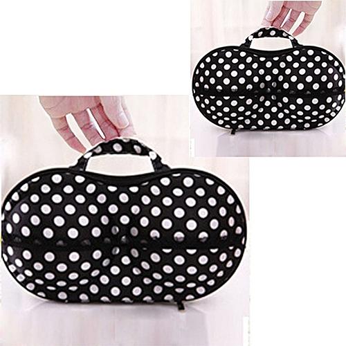 Generic 2019 bewelide Polka Dot Protect Bra Underwear Lingerie Case Travel  Bag Storage Box Black aa5ce056f84fb