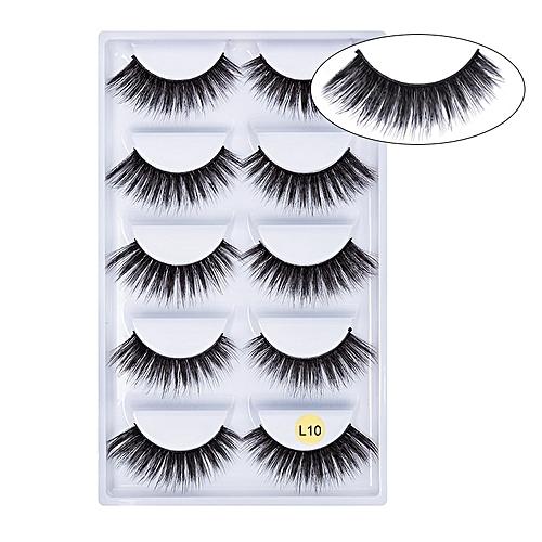 a4d077284f3 Generic 5 pairs 3D Mink Eyelashes Natural False Eyelashes 13style Lashes  Soft Fake Eyelashes Extension Makeup Kit Cilios(L10)