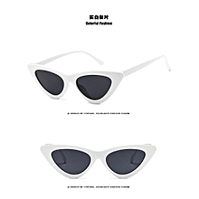 Vintage triangle cat's eye sunglasses Europe street patting sunglasses White