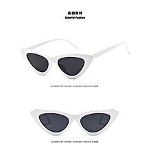 6e6e8041c4 Vintage triangle cat  039 s eye sunglasses Europe street patting sunglasses  White
