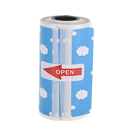 Cute Cartoon Direct Thermal Labels Roll 57*30mm(2 17*1 18in) Strong  Adhesive Sticker Clear Printing for PeriPage A6 Pocket BT Thermal Printer,  1 Roll