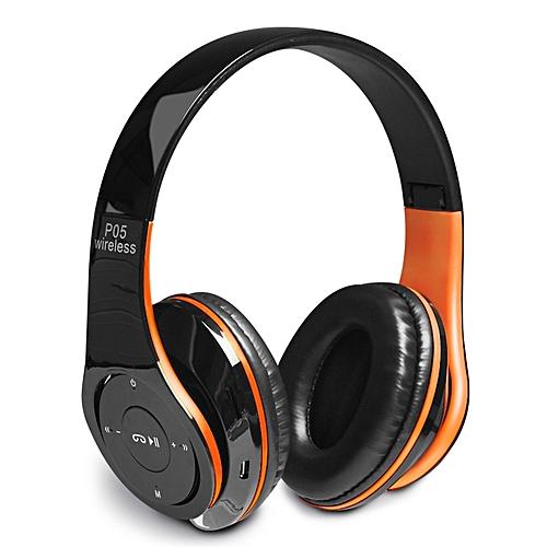 P05 New Style Wireless Bluetooth 4.2 Music  Headphones- Orange&Black