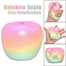10cm Rainbow Apple Cream Scented Squishies Charm Slow Rising Squeeze Cure Toy