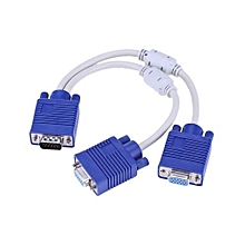 vga splitter cable 1 computer to dual 2 monitor adapter Y splitter vga cable male to female for Computer
