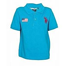 Teal Blue Polo Shirt