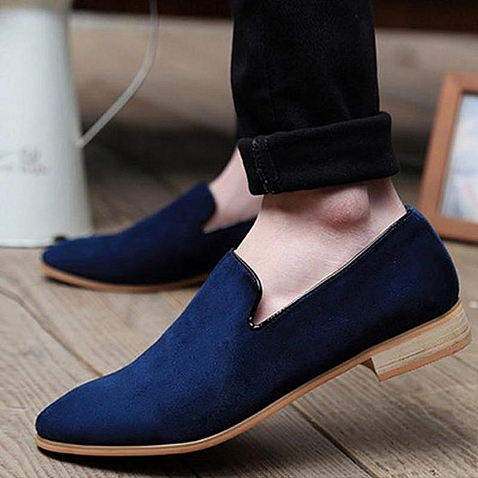 f5cc104a8dc New Fashion Men s Casual Slip On Loafer Shoes Moccasins Driving Shoes US  Size blue-EU