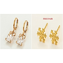 Gold  Coated Earring Loops + 1 pair Gold coated  free studs