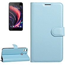 For HTC Desire 10 pro Litchi Texture Horizontal Flip Leather Case with Holder and Card Slots and Wallet(Blue)