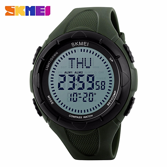464fc2c1fdd 2017 SKMEI 1232 Men Digital Wristwatches Compass World Time EL Light  Watches Repeater Countdown Alarm Sport