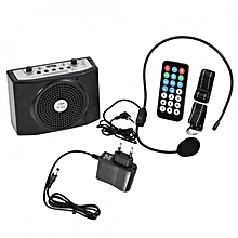 Professional Mini Portable Microphone Voice speaker Amplifier for Teaching. Guide with EU Plug WWD