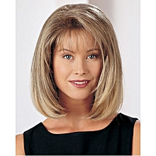 Short Blonde Bob Wig With Bangs Straight Daily Wig For Women