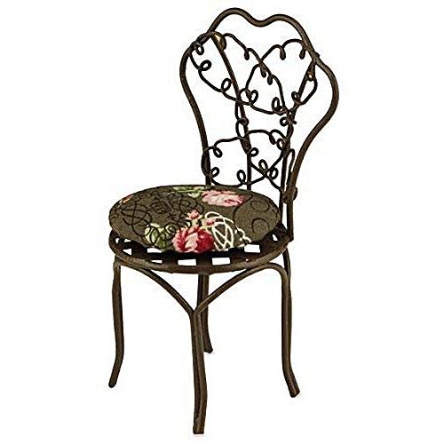 [Reuters Porcelain] [miniature] of wire garden chair Br…
