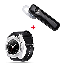 S006 Smart Berry Smart Watch with Free Bluetooth- Silver Black