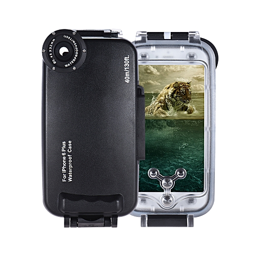 on sale 6145d b857e Mobile Phone Smartphone Waterproof Diving Housing Protective Case Cover  Underwater 40M/ 130ft for iPhone 6 Plus