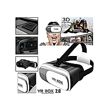3D Virtual Reality Box Glasses  - White & Black