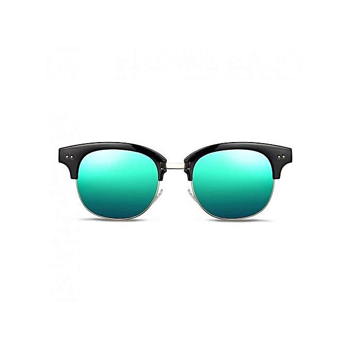 cc4de88e347 Simple New Women Sunglasses Fashion UV400 Plastic Frames PC Space Lens Ladies  Sun Glasses-Blue