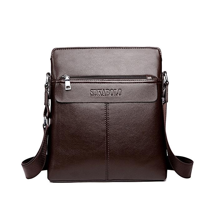 b0da0a498f3c Men Soft PU Leather Business Shoulder Bag Casual Messenger Bag Office Bag  ...