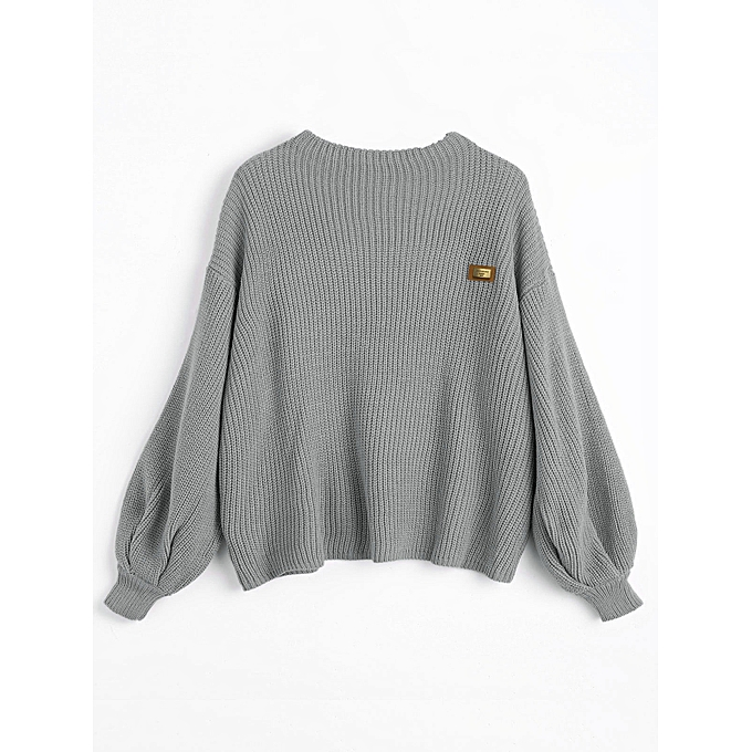 e7dc97f66913 Buy Fashion Women Oversized Pullover Sweater - Gray   Best Price ...