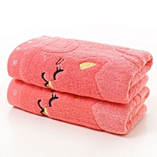 25*50 Cm Bamboo Fiber Cotton Towel For Baby Kids - Pink