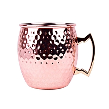 Copper Mugs Hammered Moscow Mule Copper Mug Cup with Brass Handle- 18oz