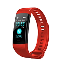 Smart Wristband Color Screen Heart Rate Blood Pressure Monitor Pedometer red