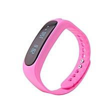 E02 Waterproof Fashion Bluetooth Smart Activity Tracker Bracelet(Pink)