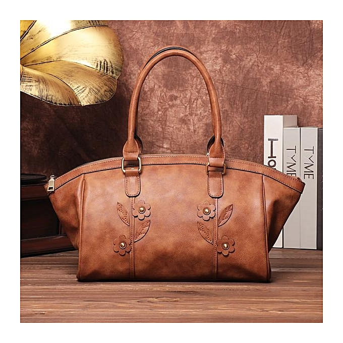 Brenice Trendy Color Pu Leather Handbags Casual Life Lightweight Handbag Shoulder Bag