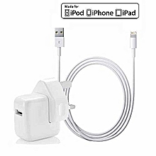 Apple Iphone /Ipad /Ipod Charger With Ligtning USB Cable