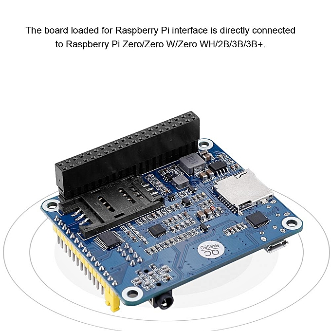 GNSS Positioning Extension Board For Raspberry Pi 3B+/Zero W SIM7600CE  4G/3G/2G Communication