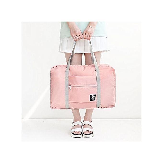 7a24293a315b 2018 new nylon foldable travel bag uni Large Capacity Bag Luggage Women  WaterProof Handbags men travel bags Free Shipping(Pink)