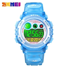 Kids Digital 50M Waterproof LED Fashion Wrist  Watch - Blue