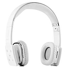 V8100 Foldable Bluetooth Hands Free Headset(WHITE)