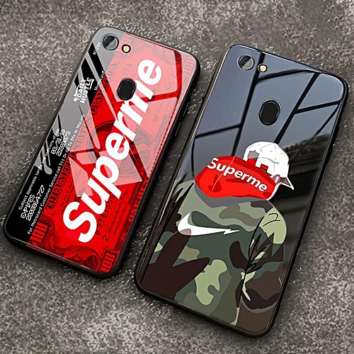 save off 80a8a 15847 Tempered Glass Case for Oppo F7 F5 With Instagram Supreme SUP Design Full  Cover Shockproof Casing For OPPO F5 F7 Cases (OPPO F5-1)