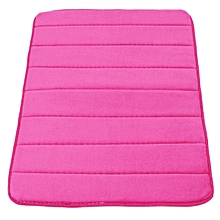 Memory Foam Bath Bathroom Bedroom Floor Shower Mat Rug Non-slip Water Absorbent Rose-red